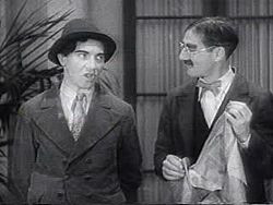 Chico and Groucho Marx during the classic