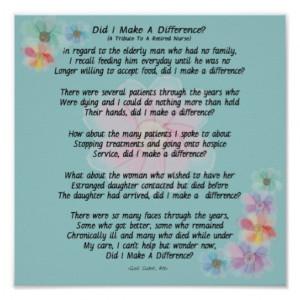 Retired Nurse Poem