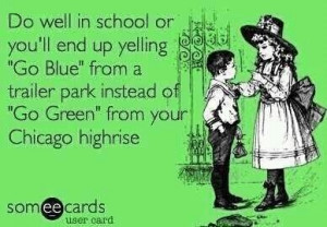 Forever a spartan at heart! Go green!