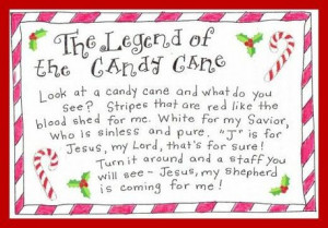 FREE: Legend of the Candy Cane Printable