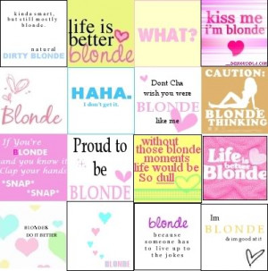 blonde sayings