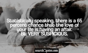 Statistically speaking, there is a 65 percent chance that the love of ...