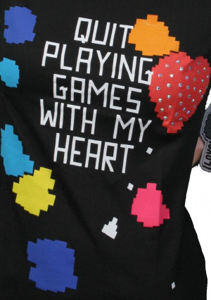 Loyal Army Quit Playing Games With My Heart T Shirt