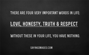 ... In Life: Quote About Four Important Words In Life ~ Daily Inspiration