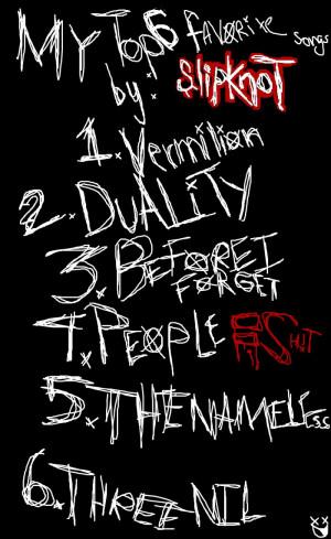 My Top 6 favorite Slipknot songs by Kmanx128