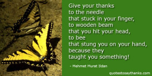 ... giving thanks quotes give your thanks to the needle that stuck in your