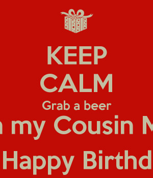 person happy birthday beer drink beer eat meat and have a blue paw ...