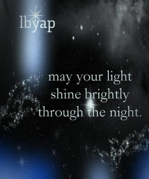 Heart Warming light night #quote