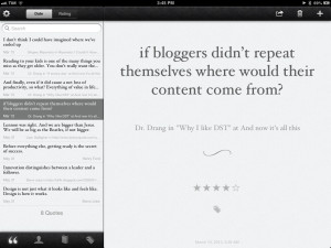 Saving Quotes In Quotebook With Instapaper and Mr. Reader