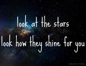 ... , -tumblr, carolmccl, coldplay, lyrics, music, stars, text, universe