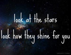 ... , -tumblr, carolmccl, coldplay, lyrics, music, stars, text, universe