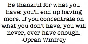 Inspirational Quotes On Being Grateful