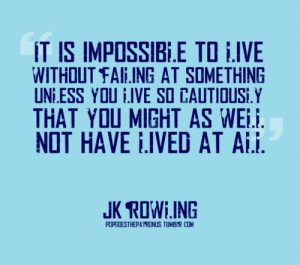 On failing by J. K. Rowling