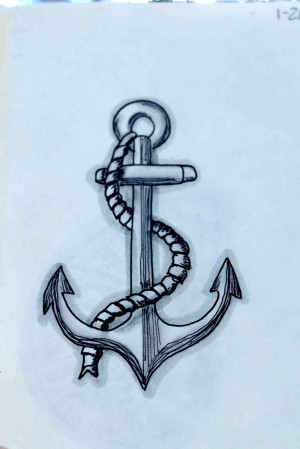 Drawings Of Anchors With Quotes 1.26 - a nautical anchor