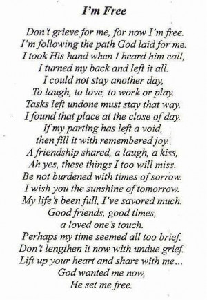 used for my dad's funeral | quotesDeath Quotes Poems, Funeral Quotes ...
