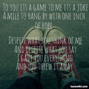LyricArt for Falling In Hate by Five Finger Death Punch