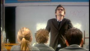 as a teacher, introducing himself to class] So, physics! Physics ...