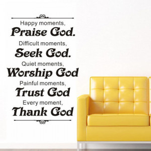 Christian Sign Praise/Seek/Worship/Trust/Thank God Wall Quote ...