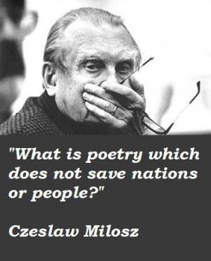 Czeslaw milosz quotes 1