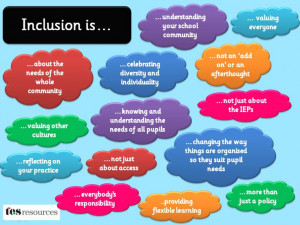 explaining what inclusion is/should be in the classroom or school ...
