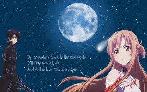 Sword Art Online Kirito-Asuna Wallpaper by Yugoku-chan