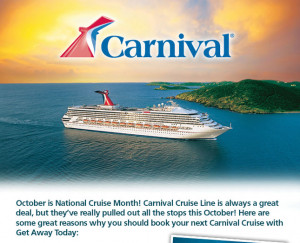 Get Away Today Vacations - Official Site - Carnival Cruise Line Sale