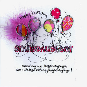 granddaughter birthday cards card relation happy birthday ...