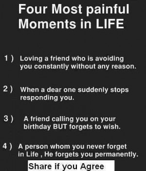 Four most painful moments in life | Quotes on Life and Friendship