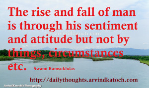 Daily Thought HD Picture Message on Rise and Fall of Man