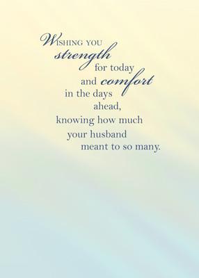 Sympathy Quotes Loss Of Husband ~ Sympathy Quotes: Sympathy Quotes ...