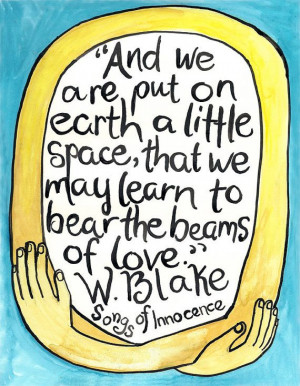 Little Space William Blake quote card blank inside by myquiethouse, $4 ...