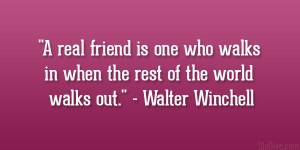 Walter Winchell Quote...