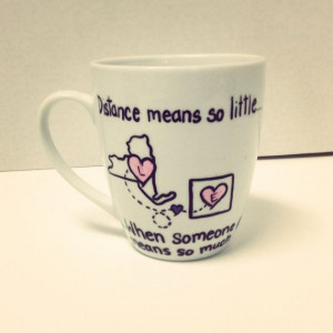 Best Friend College Mug by KitchenPaintedPretty on Etsy, $22.00