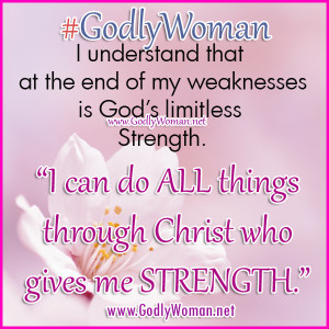Godly Woman is strong because of her faith in God
