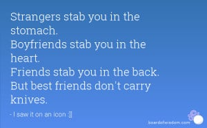 Stab You In The Back Quotes Quotesgram