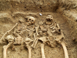 Ancient Skeletons Found Holding Hands in England