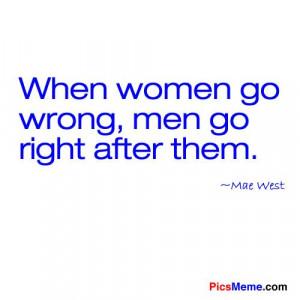 When women go wrong