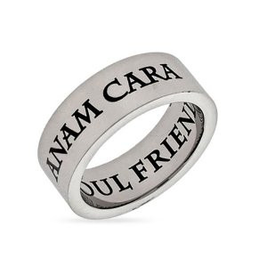 anam cara soul friend stainless steel poesy ring $ 22 40