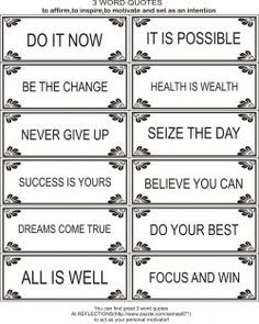 word quotes to motivate and inspire me and you!