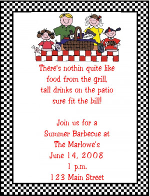 Shop our Store > Summer Barbeque Picnic Party Invitations