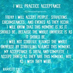 Will Practice Acceptance. Also goes with BB pg 417 in 4th edition or ...