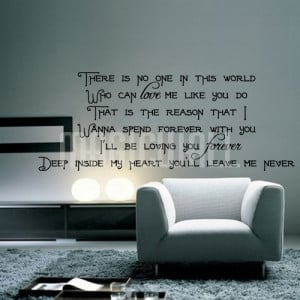 Home » Loving You Forever - Deep Inside My Heart - Wall Quotes Decals