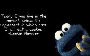 Cookie Monster quote wallpaper