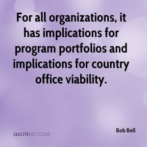... for program portfolios and implications for country office viability
