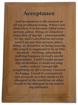 Home > Recovery Plaques > Acceptance Quote Plaque