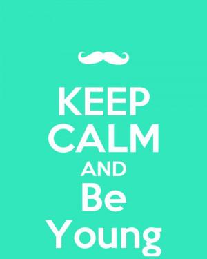 blue, calm, cool, girly, keep, keep calm, lol, mustache, quote, tumblr