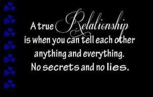 No secrets and no lies here