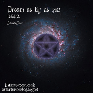 Dream as big as you dare. Positive Inspirational Quote