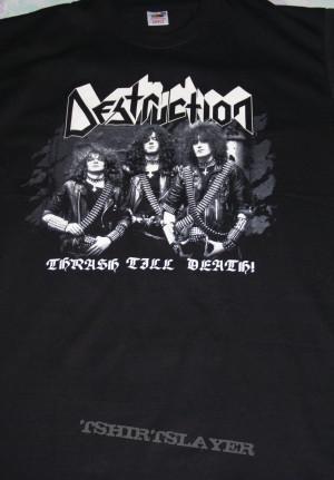 my curent most thrash stuff thrash till death shirt