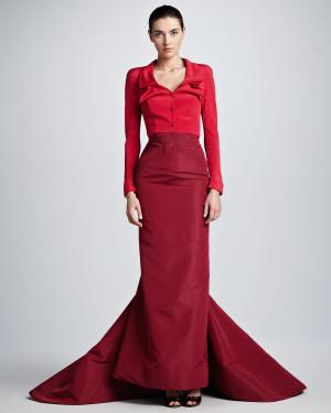 Satin Full Skirt with Blouse